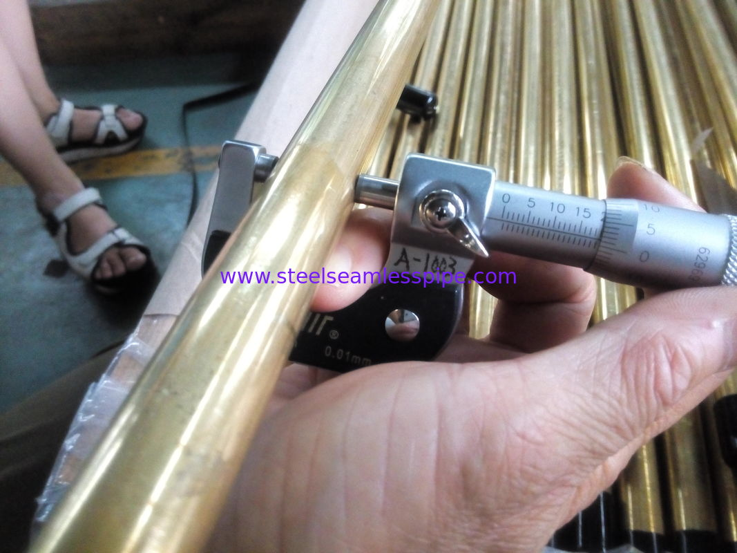 BRASS COPPER SEAMLESS BOILER TUBE ASTM B111 C44300 C68700 C71500 Used for Air Condenser 19.05,25.4MM ( M / W )