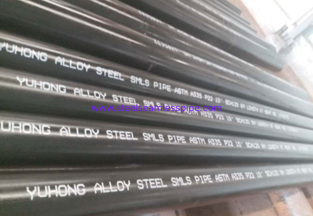 Alloy Steel Seamless Pipe ASTM A335 P22 P11 P9 P91 WITH Black or Varnish Coating Bevelled End