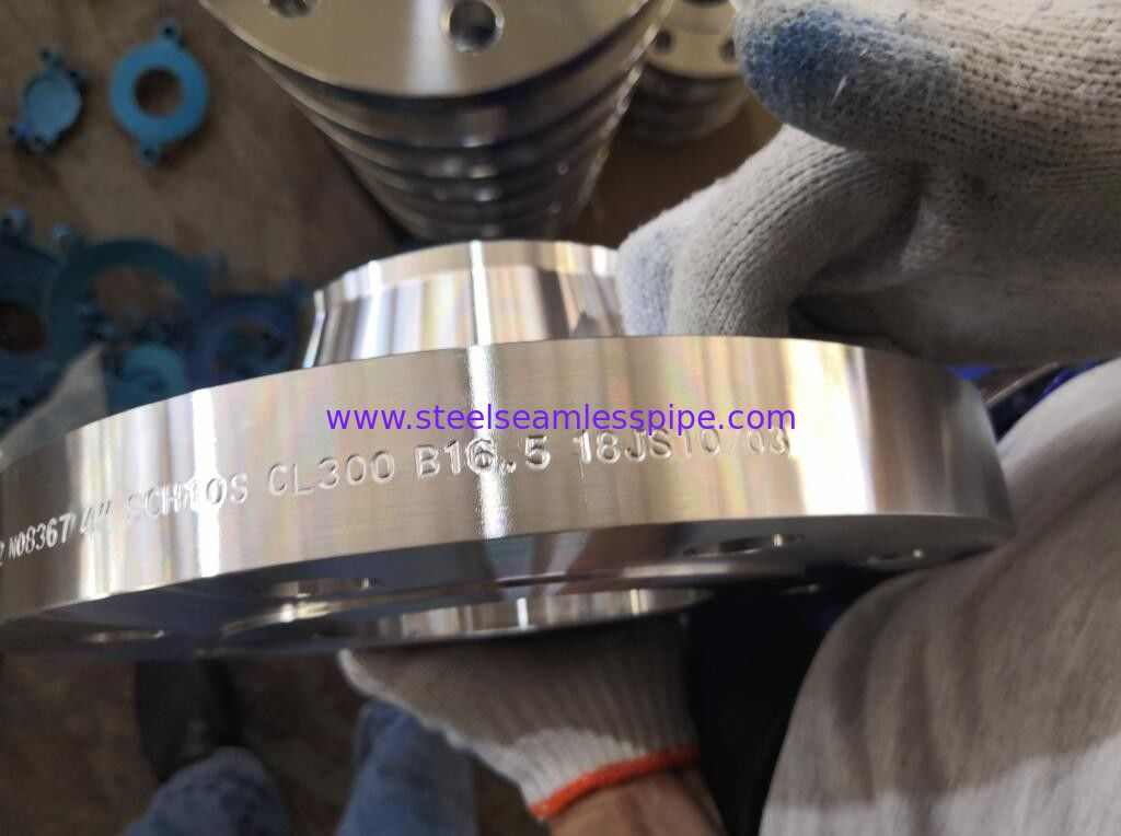 Mechanical Nickel Alloy Flanges WN RF Flange With Hot Dip Galvanizing